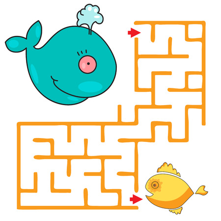 iq: Funny maze game for child. kids games with cute whale