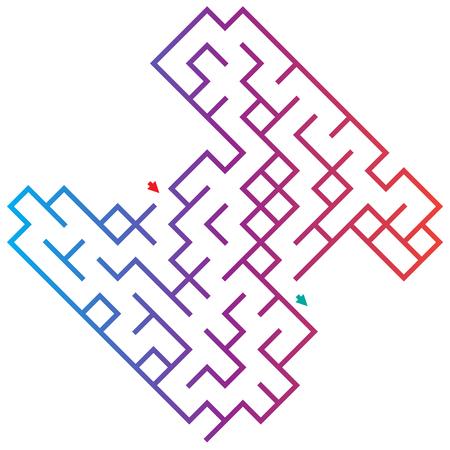 iq: Labyrinth for preschool children. Rebus or quiz for school. Funny maze game for kids. Visual jigsaw for Preschool Children Illustration