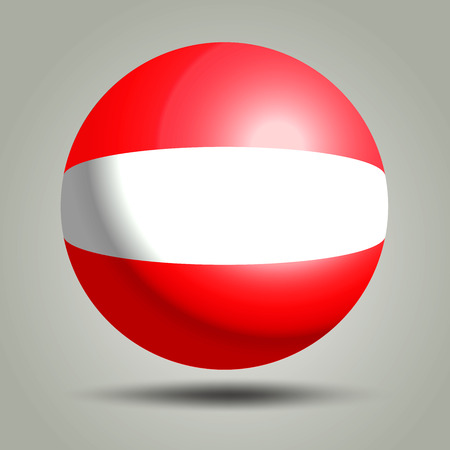 website buttons: Austria flag vector illustration on grey background. Illustration