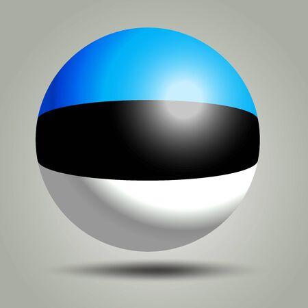 3d render of Estonia on grey background.
