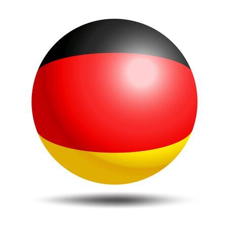 Germany flag sphere isolated on white illustration