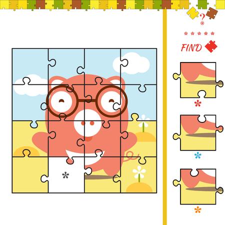 brain illustration: Cute illustration of kindergarten education. Activity task for preschool children Illustration