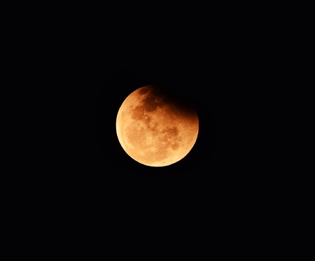 eclipse: Full eclipse of the moon in the year 2015 Stock Photo