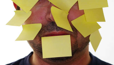 forgetfulness: A face full of posticks to remember