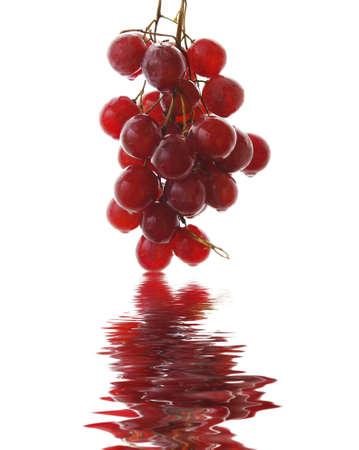 A bunch of red grapes isolated on white background Stock Photo - 4251364