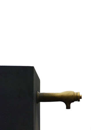 source d eau: Une source d'eau avec le fond isol� sur blanc Banque d'images