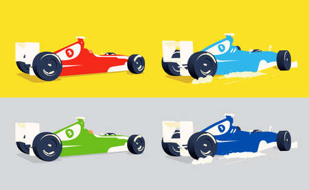 modern vector illustration formula race car all objects are isolated