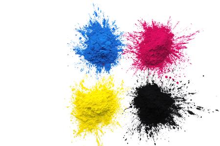 CMYK colour toner for printer cyan magenta yellow black 版權商用圖片