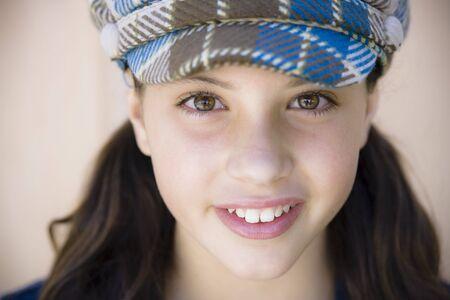 Tween Girl Smiling To Camera