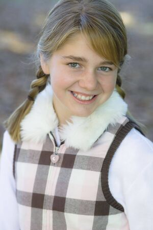 Portrait of a Cute Tween Girl Outdoors