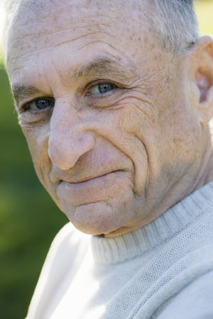 Portrait of a Happy Senior Man Looking Directly to Camera Stock Photo - 6043388