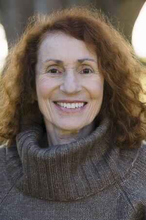 Portrait of a Pretty Smiling Senior Woman Stock Photo - 6043386