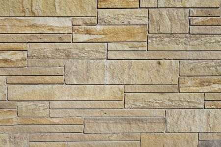 Closeup Detail of Slabs of a Sandstone Wall Stock Photo