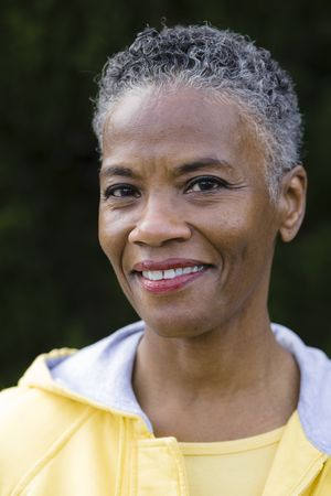 gray hairs: Portrait of a Beautiful African American Woman