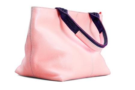 ピンク色で美しく、ファッショナブルな女性のハンドバッグ 写真素材