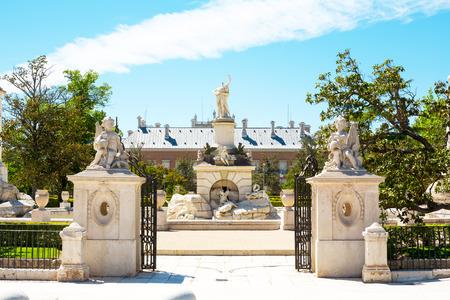 hercules: Hercules monument.Ornamental fountains of the Palacio Real