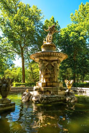 botanical gardens: Fountain in the Botanical Gardens  Stock Photo