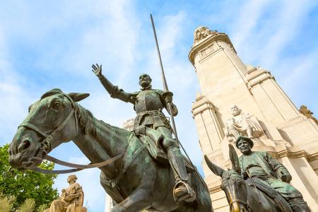 don quijote: Don Quijote, Sancho Panza, Madrid, Espa�a Foto de archivo