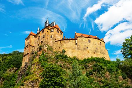 Kriebstein 城、ザクセン、Kriebstein 城を表示 写真素材