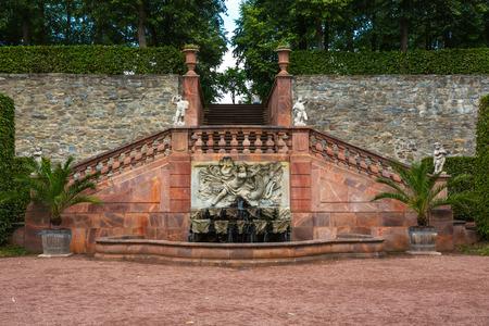 公園 Lichtenwalde、ザクセン、ドイツ