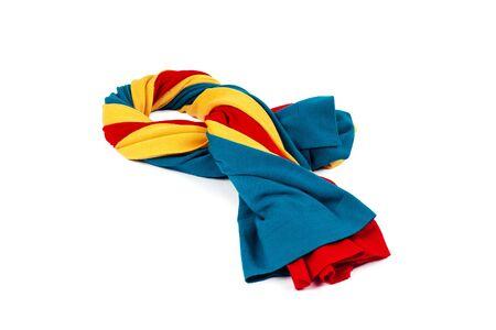 白の背景に異なる色をウールからカシミヤ スカーフ