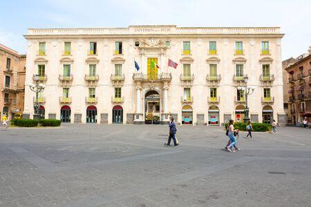 カターニア大学付属、カターニア、シチリア島、イタリアの大学の主要な建物