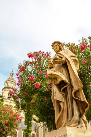 場所、カターニア大聖堂、ピアッツァ デル ドゥオーモ イタリア 写真素材