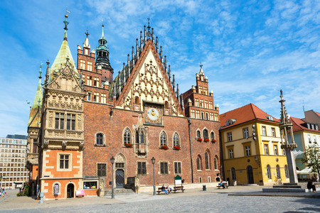 Wroclaw City Hall Old town in Poland