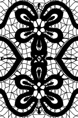 lacy: Simple pattern lace illustration Illustration