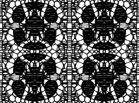 Simple pattern lace illustration Illustration