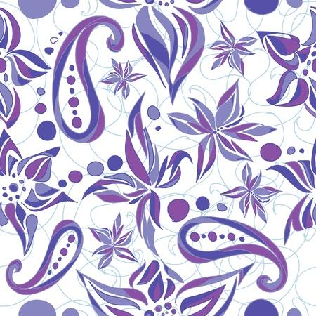Simple flower pattern illustration Stock Vector - 11433059
