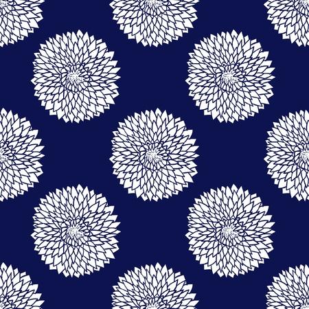 Simple blue pattern illustration