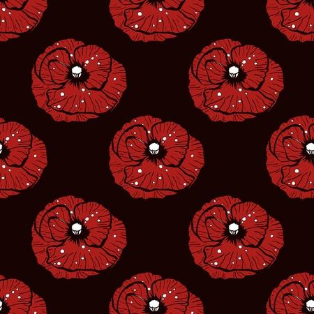 Simple poppy pattern illustration Illustration