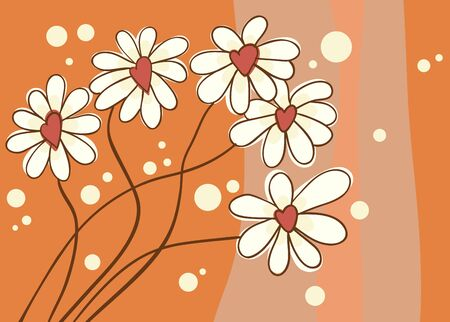 Background with love chamomile illustration Stock Vector - 11433013