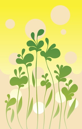Simple green background illustration Stock Vector - 11433029