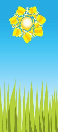 Bright sunny day illustration