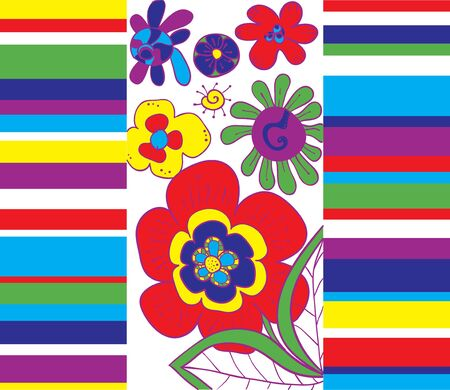 illustation: Bright abstract floral background illustation Illustration