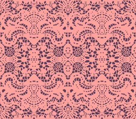 Pink lace dolly illustration Vector