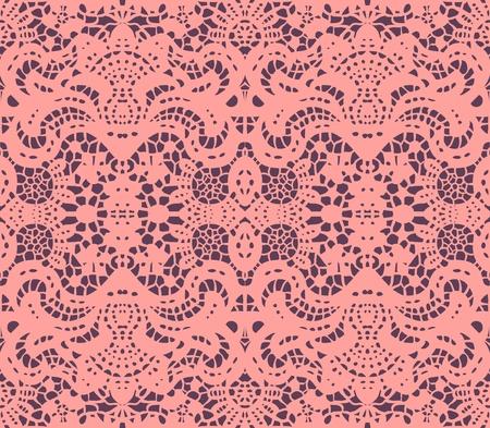 Pink lace dolly illustration Illustration