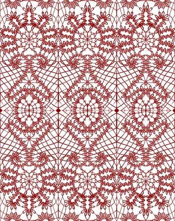 Beautiful delicate openwork lace illustration Vector