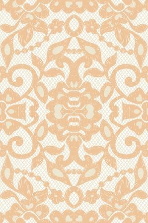 Beautiful floral beige lace illustration