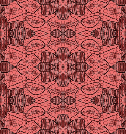 Delicate lace on pink. Vector illustration
