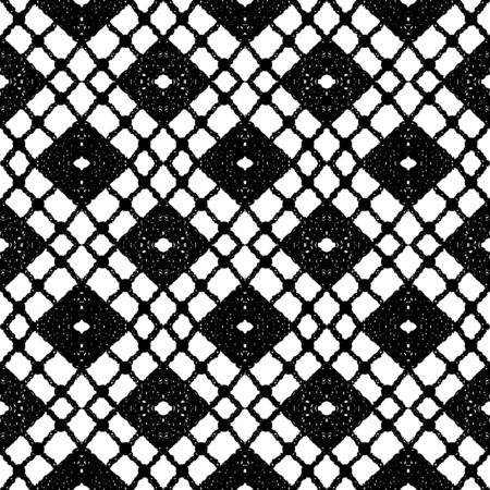 lace fabric: Simple lace with rhombus. Vector illustration Illustration