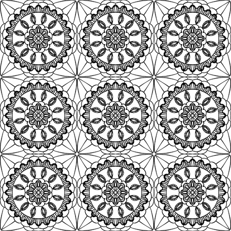 Lace of openwork squares. Vector illustration