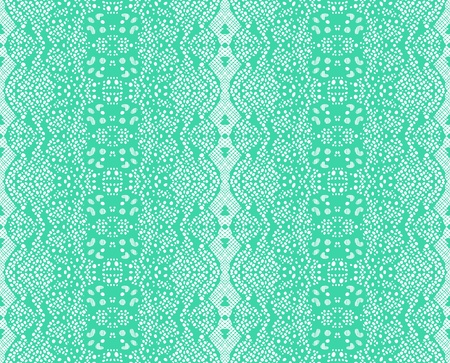 Seamless lace mint color. Vector
