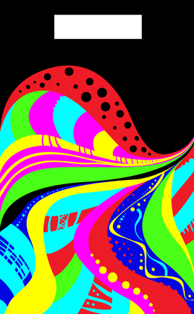 acid colors: Abstraction in acid colors. Vector illustration