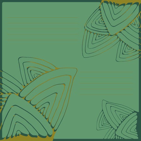 streaks: Green pattern with stylized leaves and streaks