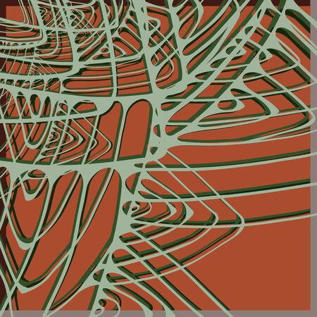 orange pattern: Orange pattern with stylized green web