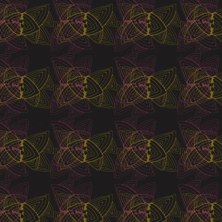contoured: Modelo incons�til oscuro con dos coloridos hojas contorneadas estilizadas abstractas