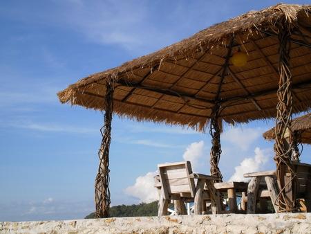 gazebo: Gazebo with blue sky